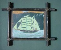 Ship in a Religious Frame, c1930s