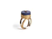 Lapis & Diamond Ring, c. 1970