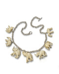 Collage Necklace, Elephants, 2010