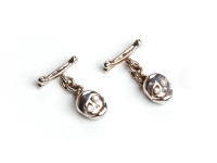 White Gold Cufflinks with Diamonds, 2004