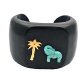 Turquoise Elephant Cuff