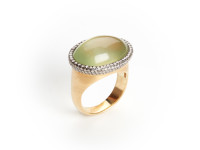 A Prehite and Diamond Ring