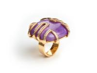 Diamond & Sugilite Ring