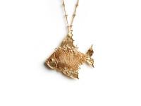 Fish Pendant and Bone Necklace, c. 1970
