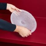 Vezzini & Chen Hexa plate (coral), 2019 signed 'Vezzini & Chen' furnace glass 26 x 31 cm (oval)