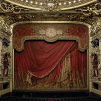 Curtain, Palais Garnier, Paris France