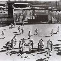 Prison Series (Inmates being Searched In Prison Yard)