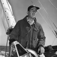 Humphrey Bogart: At the Helm of His Boat Santana