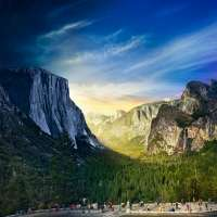 Tunnel View, Yosemite National Park, Day to Night