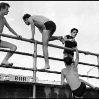 Brooklyn Gang (teenage boys in bathing suits near boardwalk