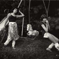 "Untitled from the ""At Twelve"" Series, Debbie and Becky on Swing Set"