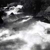 Rapids Below Vernal Fall, Yosemite Valley, From Portfolio One: Twelve Photographic prints by Ansel Adams
