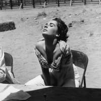 Liz Taylor Sunning Herself