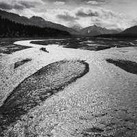 Teklanika River, Mount McKinley National Park, Alaska, 1947, From Portfolio Four: What Majestic Word. Print #1, Published in 1963 by the Sierra Club San Francisco
