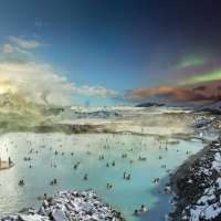 Blue Lagoon, Reykjavik, Iceland, Day to Night