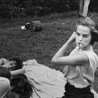 Brooklyn Gang (girl smoking with group in park),