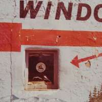 """Untitled (""""Window"""" with Red Arrow)"""