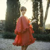 Elsa Martinelli in Red Chiffon