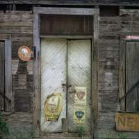 Door with Signs, Uniontown, Alabama