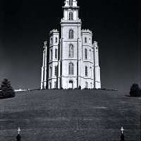 Mormon Temple, Manti, Utah, From Portfolio One: Twelve Photographic prints by Ansel Adams