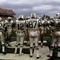 Jets Huddle in End Zone, Super Bowl III