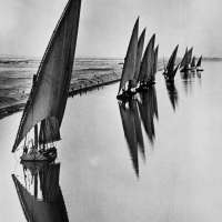 Egyptian Fishing Boats, Suarez Canal near Port Said
