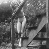 Girl on the Steps, Nudist Camp, NJ