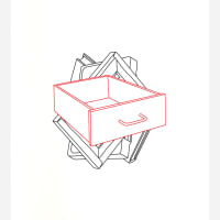 Order of Appearance (Book, Cassette, Canvas, Drawer), 1990