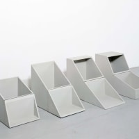 Four Identical Boxes with Lids Reversed, 1969