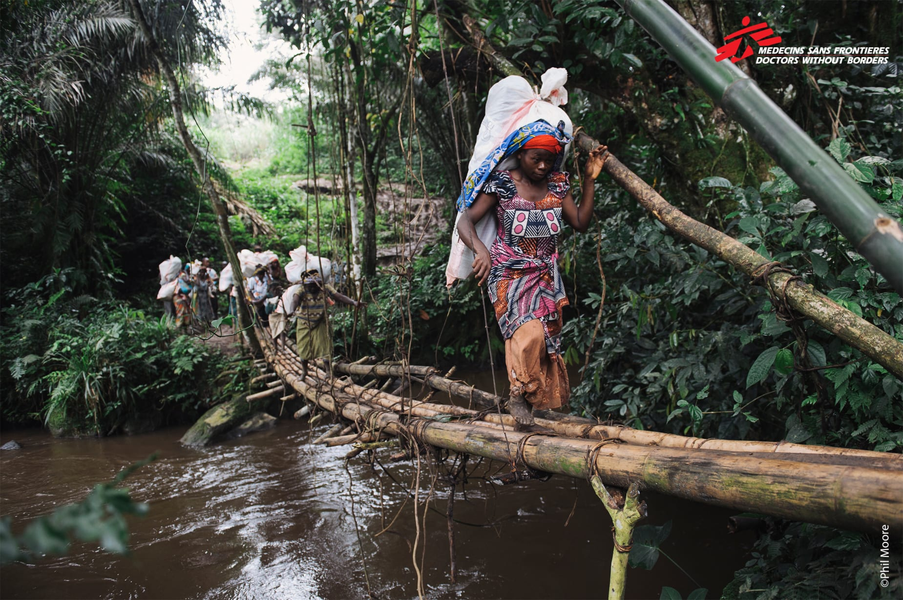 Bridge To Vaccination In Masisi Eastern Drc Copyright Phil Moore 3