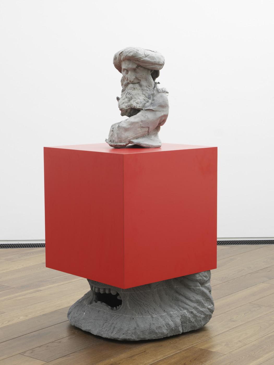 "<div class=""artwork_caption""><div class=""title""><em>'Who conjured you out of the clay?'</em>, 2012</div><div class=""medium"">Thermalite, Formica, polyurethane foam, ceramic, parcel tape</div><div class=""dimensions"">138.0 x 60.0 x 60.0 cm<br />54 3/8 x 23 5/8 x 23 5/8 in.</div></div>"