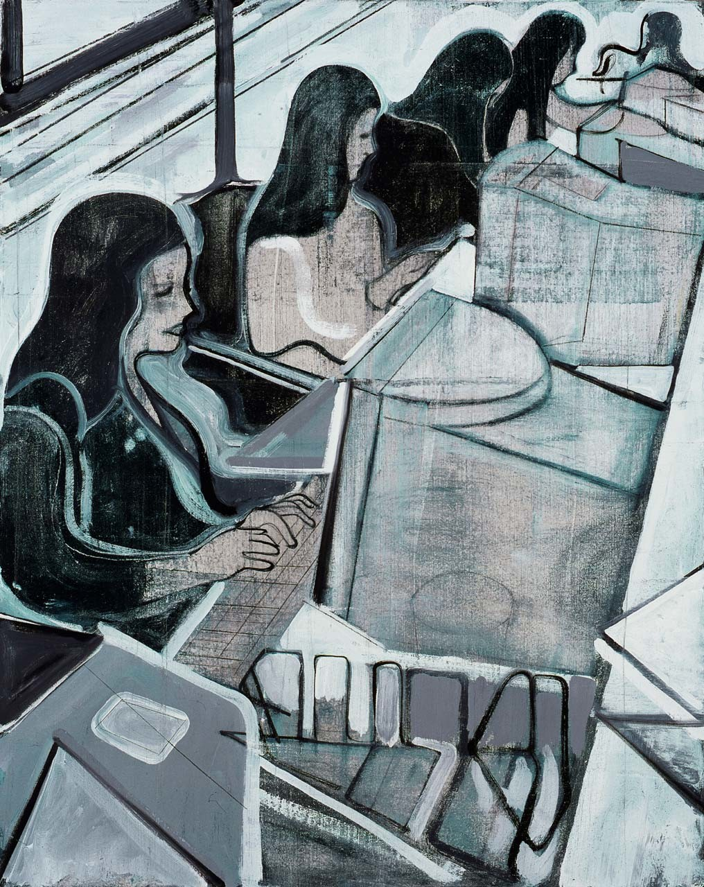<p>Untitled (women at computers), 2007</p>
