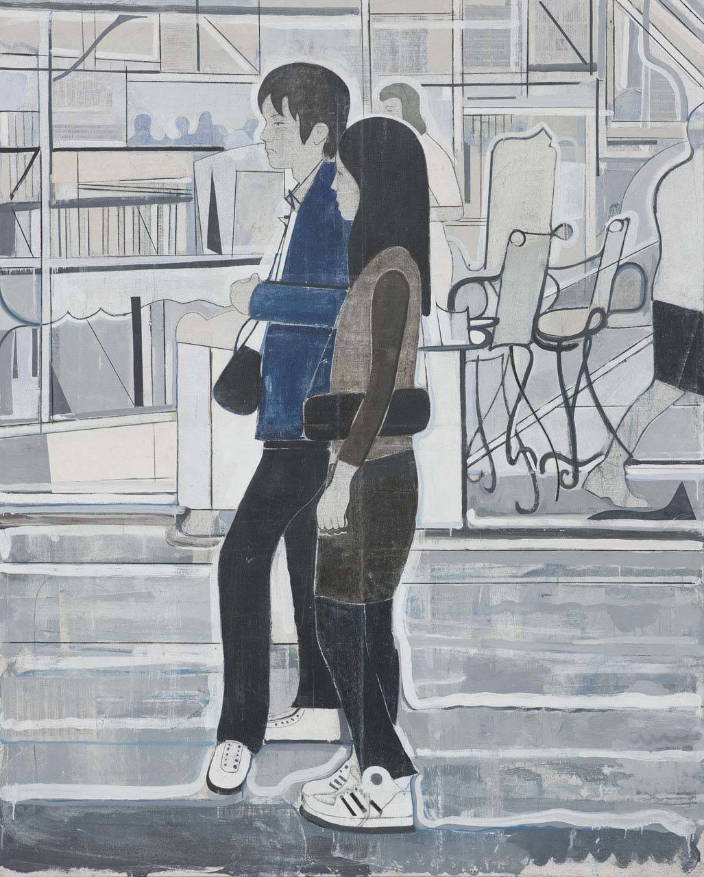 <p>Untitled (couple facing left), 2008</p>