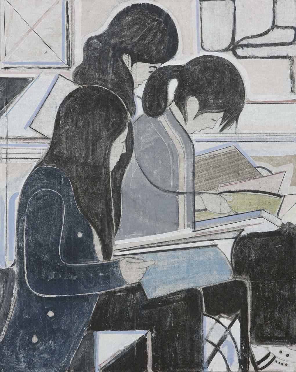 <p>Untitled (study of three women reading), 2008</p>