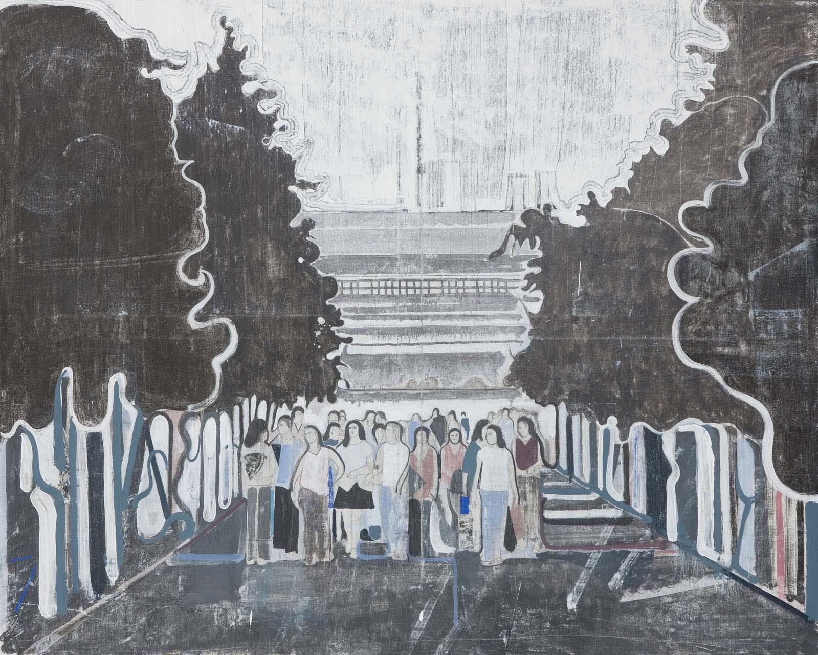 <p>Untitled (students under black trees),2008</p><p></p>