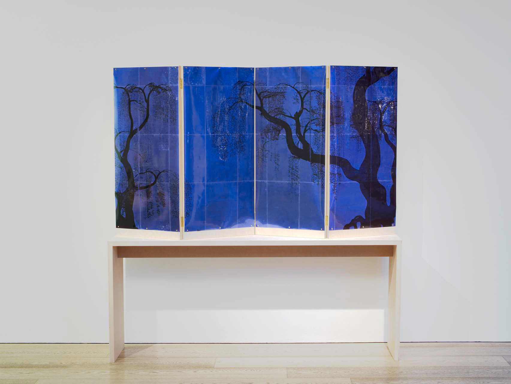 """<div class=""""artwork_caption""""><p>A Weeping Willow Crying on His Pillow (Blue), 2010</p></div>"""