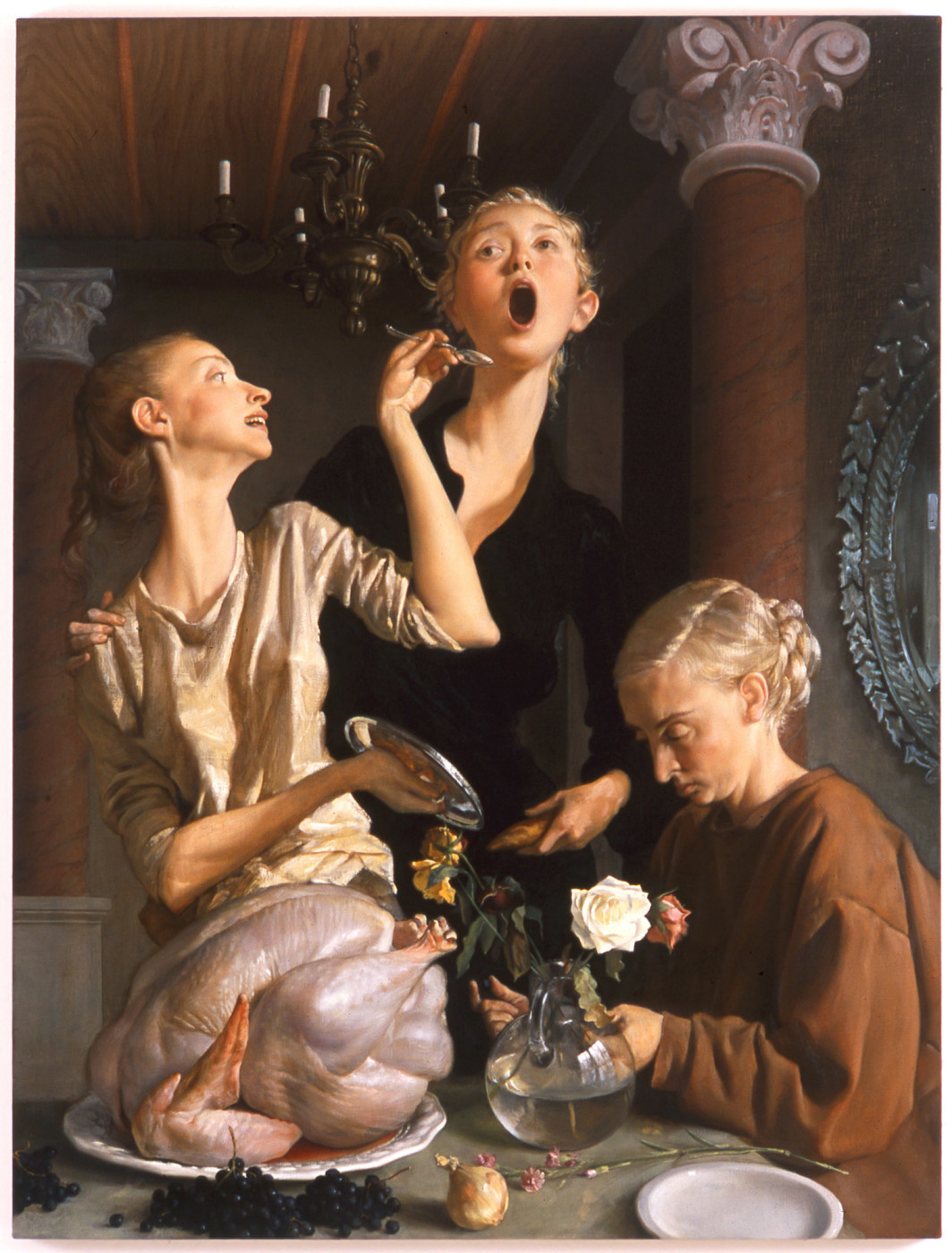 "<div class=""title""><em>Thanksgiving</em>, 2003</div><div class=""medium"">oil on canvas</div><div class=""dimensions"">172.72 x 132.08 cm<br />68 x 52 in.</div>"