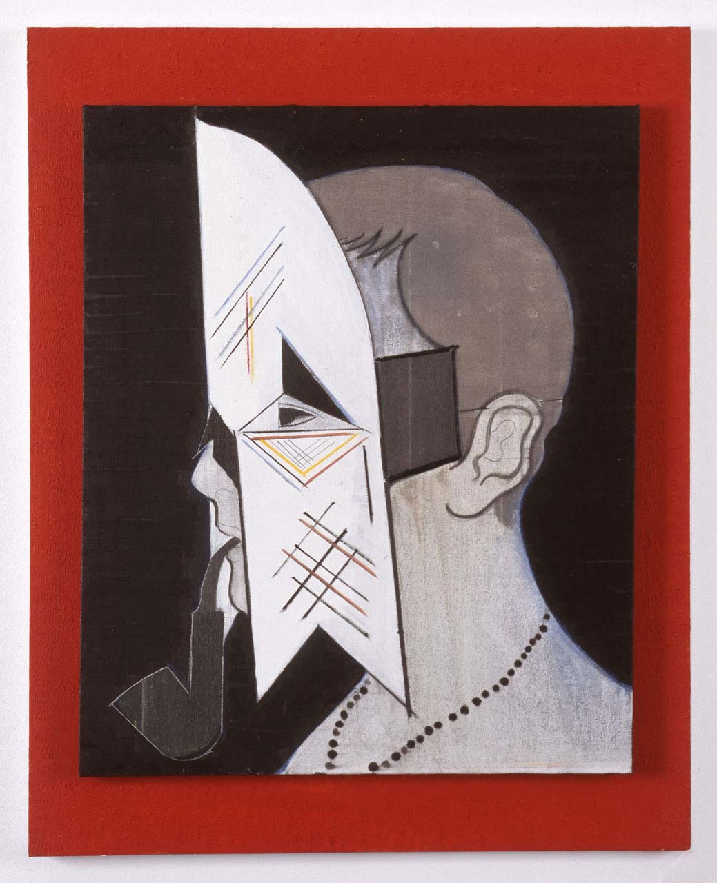 "<div class=""artwork_caption""><p>Christian with Mask and Pipe, 2010</p></div>"