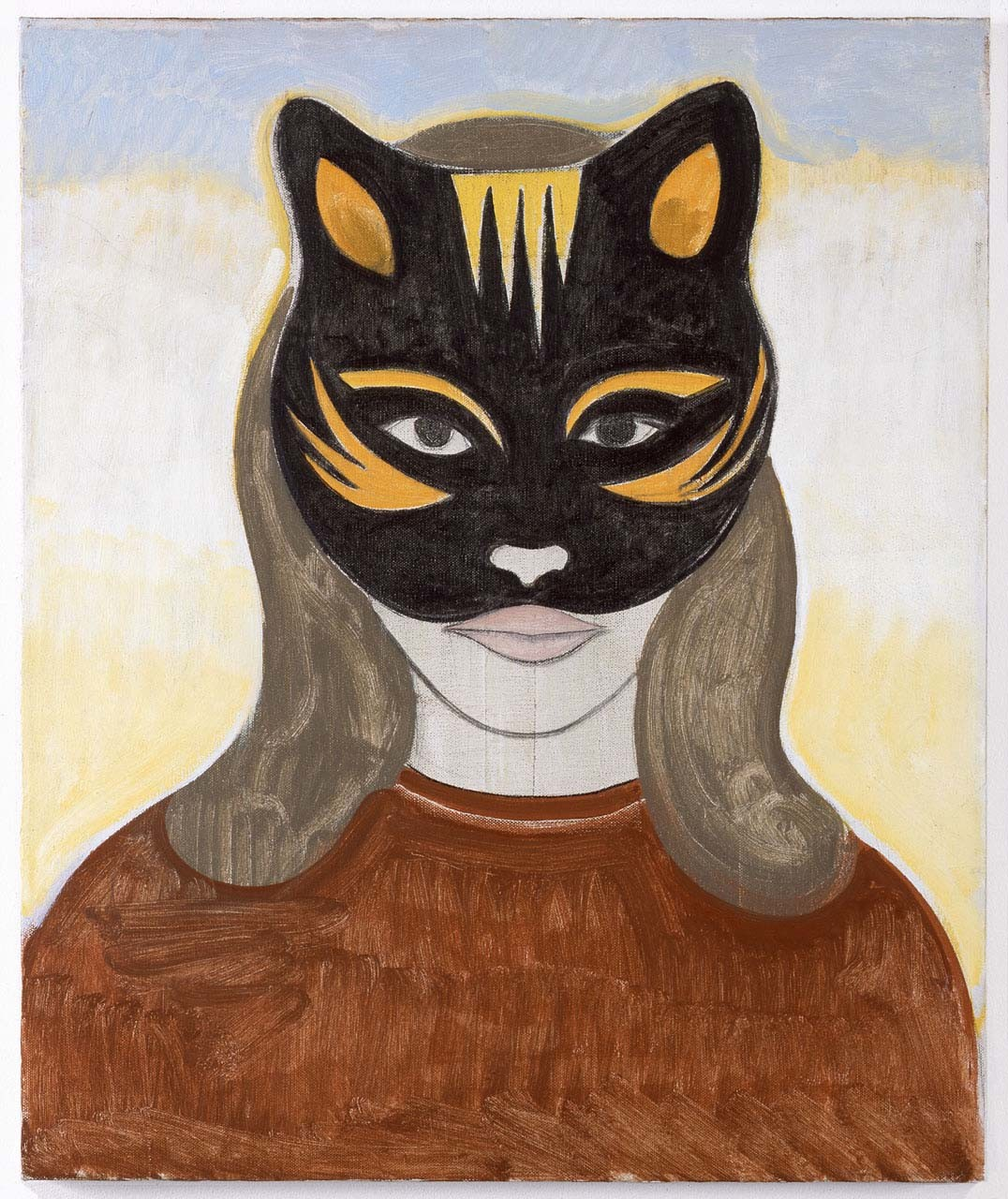 "<div class=""artwork_caption""><p>Woman with Cat mask, 2010</p><p> </p></div>"