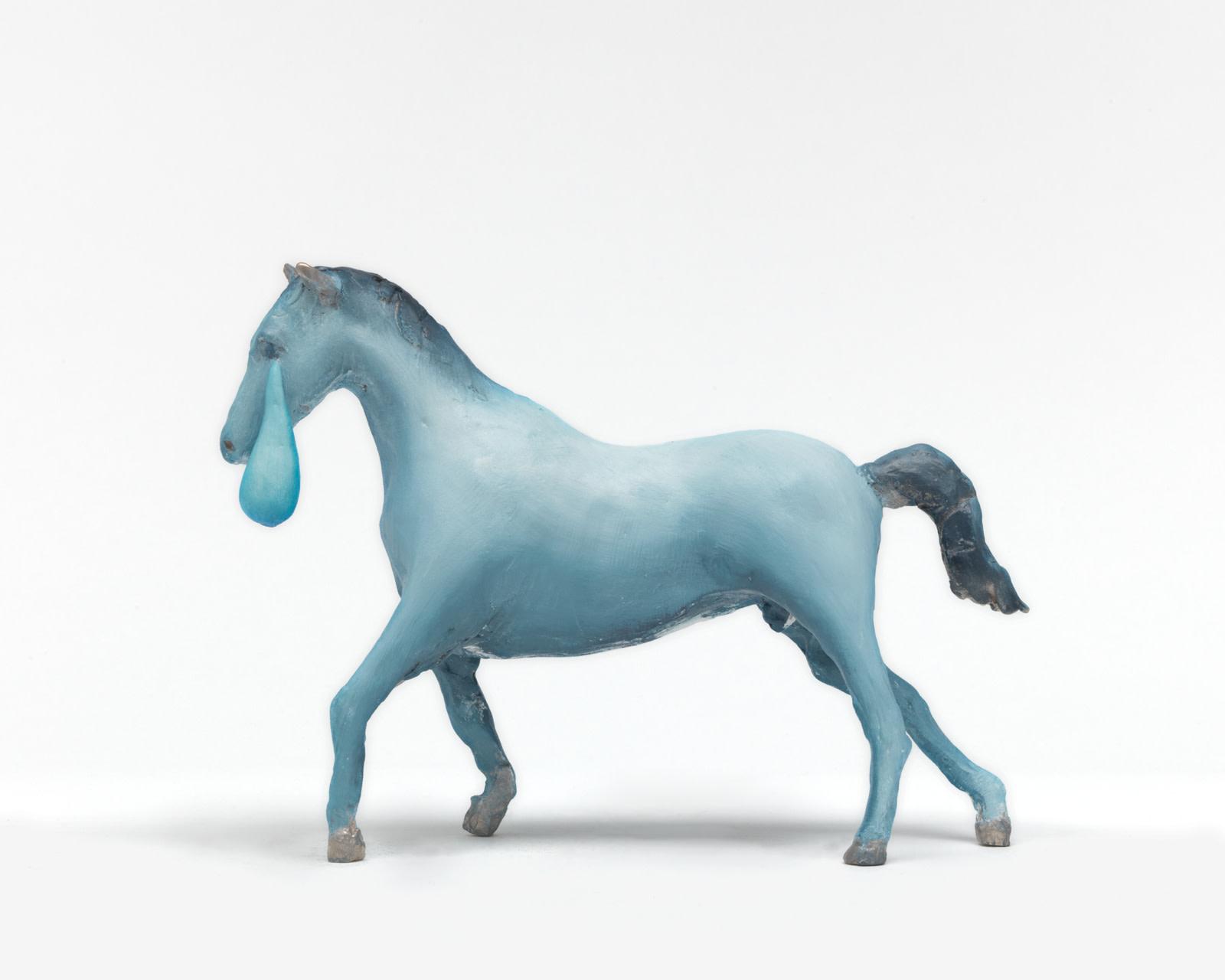 "<div class=""title""><em>Crying Horse</em>, 2016</div><div class=""medium"">cast bronze, oil paint</div><div class=""dimensions"">22.2 x 31.8 x 8.9 cm<br />8 3/4 x 12 1/2 x 3 1/2 in.</div>"