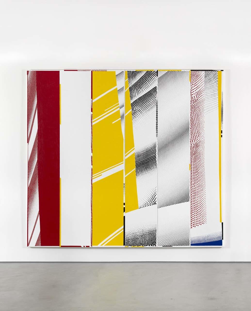 "<div class=""artwork_caption""><p>Group Self-portrait in ""Mirror #3 (Six Panels) (Paul, Ioana, Jonathan P., Riley, John, Stephanie), 2015</p></div>"
