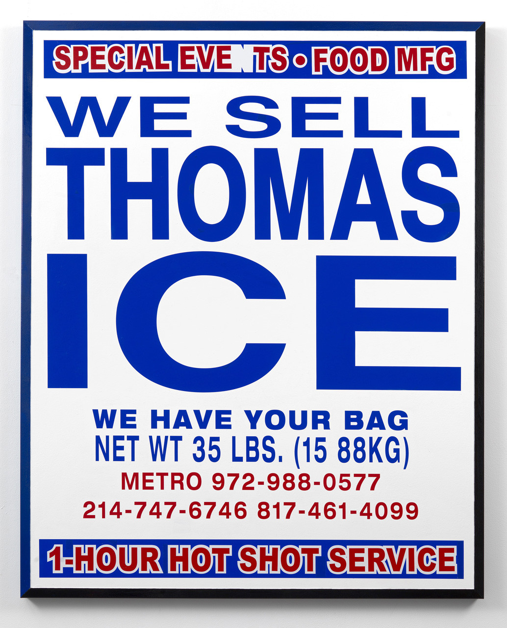 "<div class=""artwork_caption""><p>We Sell Thomas Ice, 2016</p></div>"