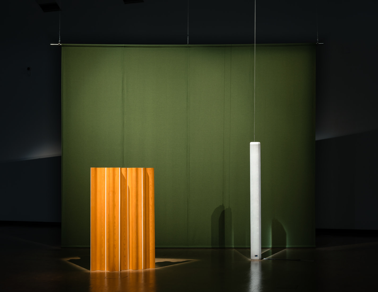 <p>Installation view, Florian Hecker, <em>Hallucination, Perspective, Synthesis</em>, Kunsthalle Wien, 17 November 2017 – 14 January 2018</p>