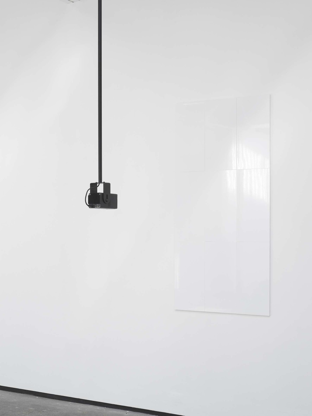 "<div class=""title""><em>Untitled</em>, 2010</div><div class=""medium"">1 channel computer generated sound, ceramic tiles, directional loudspeaker system, powder coated steek ceiling mount</div><div class=""dimensions"">dimensions variable</div>"