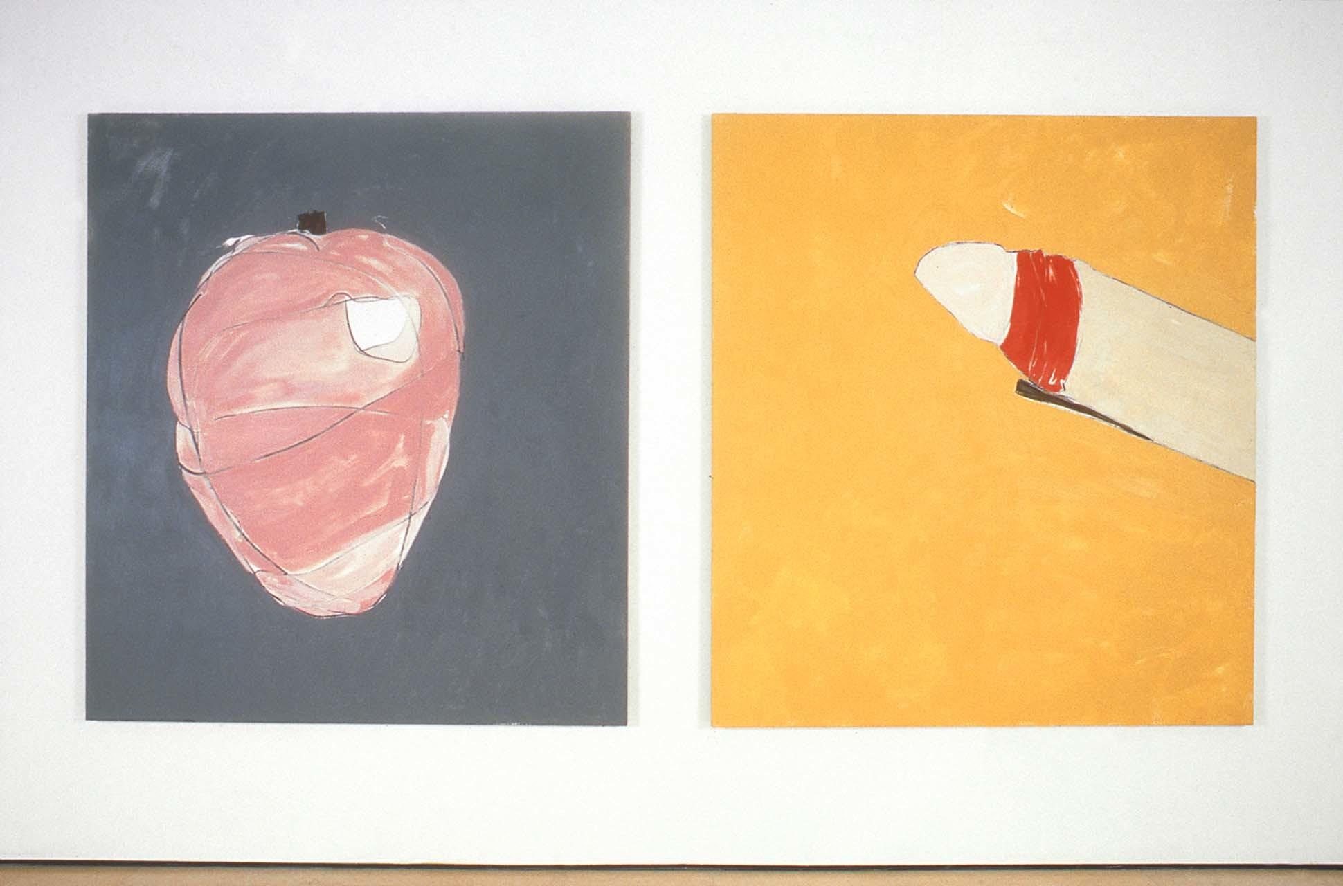 """<div class=""""artwork_caption""""><p>Heart Dick, 1999</p></div>"""