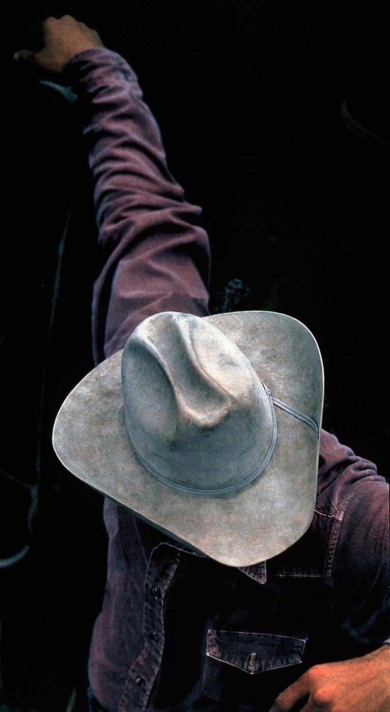 """<div class=""""title""""><em>Untitled (Cowboy)</em>, 1999</div><div class=""""medium"""">ektacolour photograph</div><div class=""""dimensions"""">175.2 x 104.0 x 5.0 cm<br />69 x 41 x 2 in.</div>"""