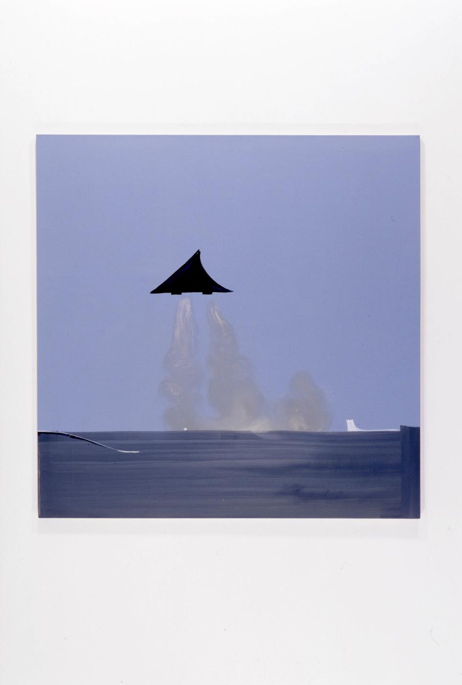 "<div class=""title""><em>Concorde</em>, 2007</div><div class=""medium"">oil on canvas</div><div class=""dimensions"">160.02 x 160.02 x 2.54 cm<br />63 x 63 x 1 in.</div>"