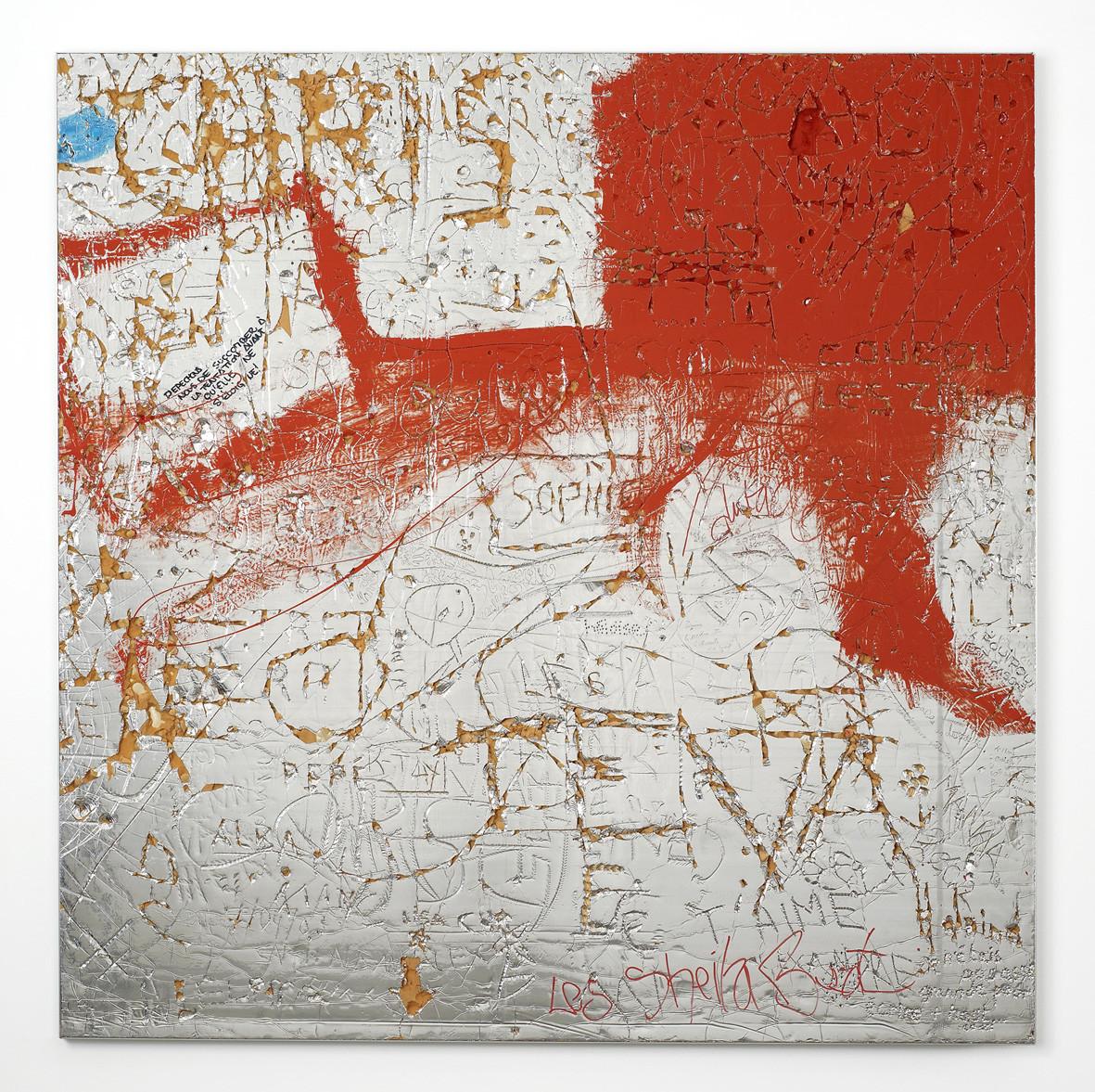 "<div class=""title""><em>Untitled</em>, 2002</div><div class=""medium"">acrylic paint, ink, celotex insulation board, wood, aluminium</div><div class=""dimensions"">120.8 x 120.8 x 2.5 cm<br />47 1/2 x 47 1/2 x 1 in.</div>"