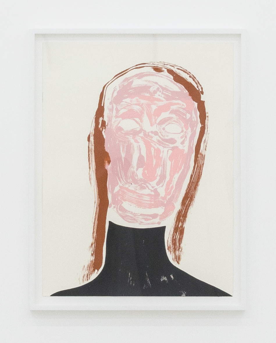 "<div class=""title""><em>Self-Portrait: Tired (black turtle neck)</em>, 2017</div><div class=""medium"">acrylic on paper</div><div class=""dimensions"">site size: 60.9 x 45.9 cm / 24 x 18 1/8 in<br />frame size: 67.6 x 52.3 x 3.8 cm / 26 5/8 x 20 5/8 x 1 1/2 in</div>"
