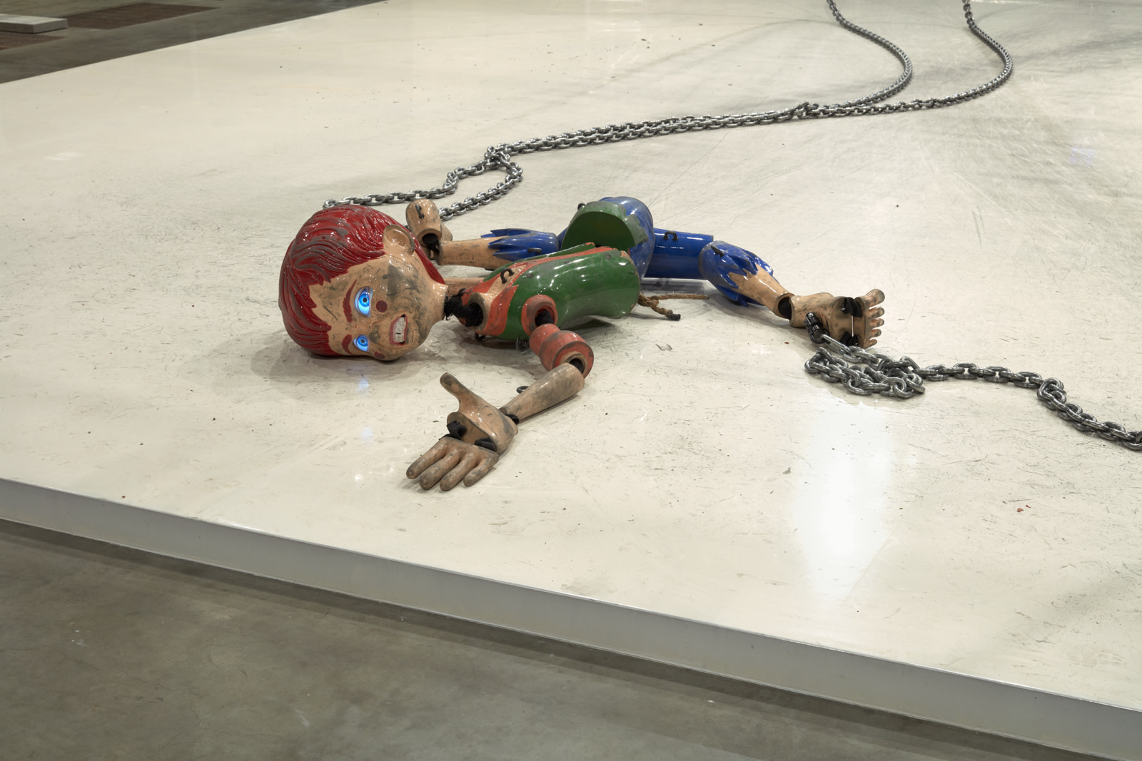 """<div class=""""artwork_caption""""><p>Colored<em> sculpture</em>, 2016, installation view, The Tanks, Tate Modern, 3 May - 31 August 2018</p><p>Mixed media</p><p>Overall dimensions vary with each installation</p><p>Photo: Robert Glowacki</p></div>"""
